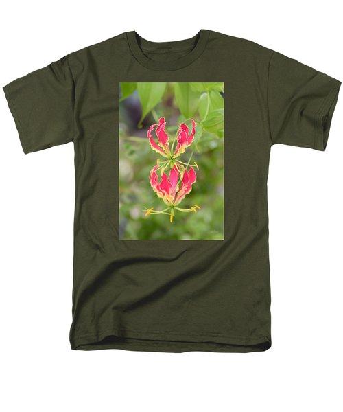 Floral Twirlers Men's T-Shirt  (Regular Fit) by Deborah  Crew-Johnson