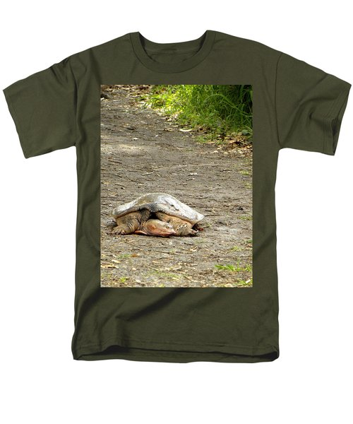 Men's T-Shirt  (Regular Fit) featuring the photograph Florida Softshell Turtle  by Chris Mercer
