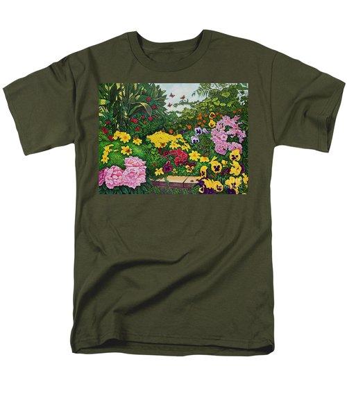 Flower Garden Xii Men's T-Shirt  (Regular Fit) by Michael Frank