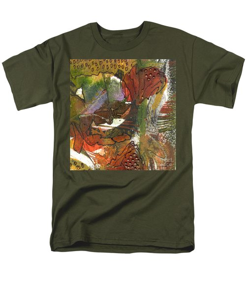 Men's T-Shirt  (Regular Fit) featuring the mixed media Flower In The Tropics by Angela L Walker