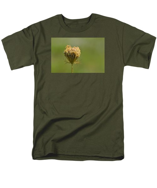 Men's T-Shirt  (Regular Fit) featuring the photograph Flower Turning Into A Seed Pod Dispenser 2  by Lyle Crump