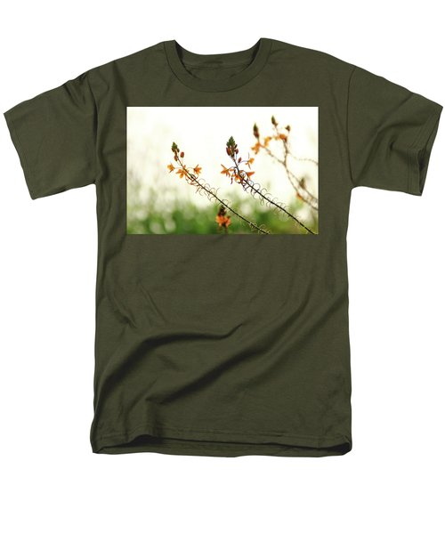 Men's T-Shirt  (Regular Fit) featuring the photograph Flowering In Israel At The Sunset by Yoel Koskas