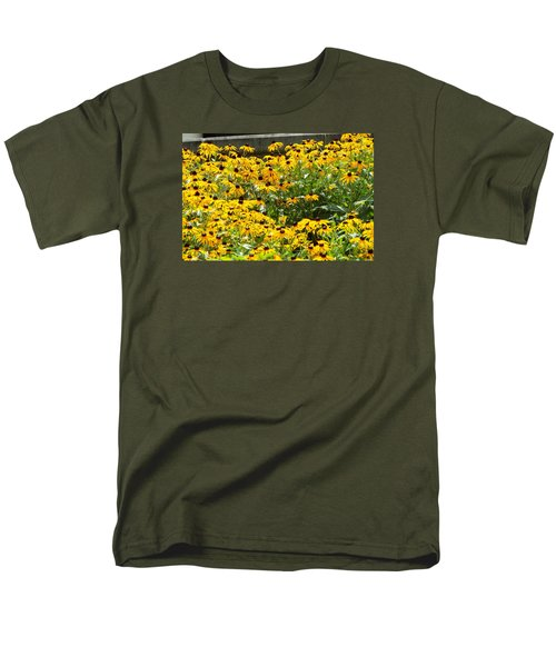 Men's T-Shirt  (Regular Fit) featuring the photograph Flowers A Go Go by Jake Hartz