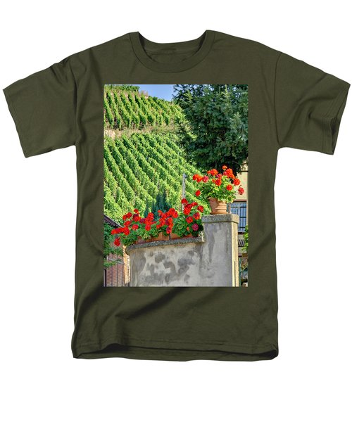 Men's T-Shirt  (Regular Fit) featuring the photograph Flowers And Vines by Alan Toepfer