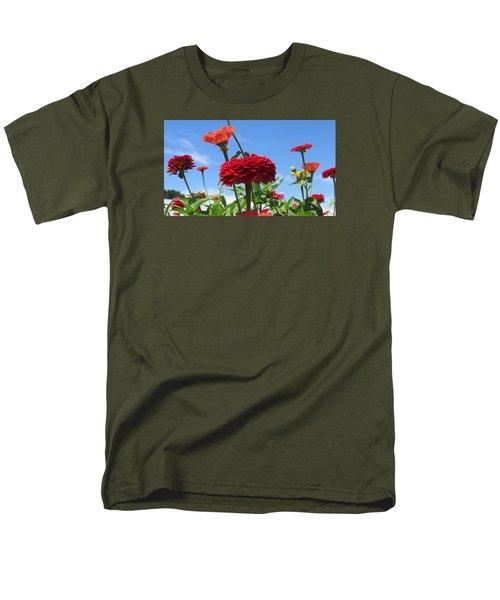 Flowers In The Blue Men's T-Shirt  (Regular Fit) by Jeanette Oberholtzer