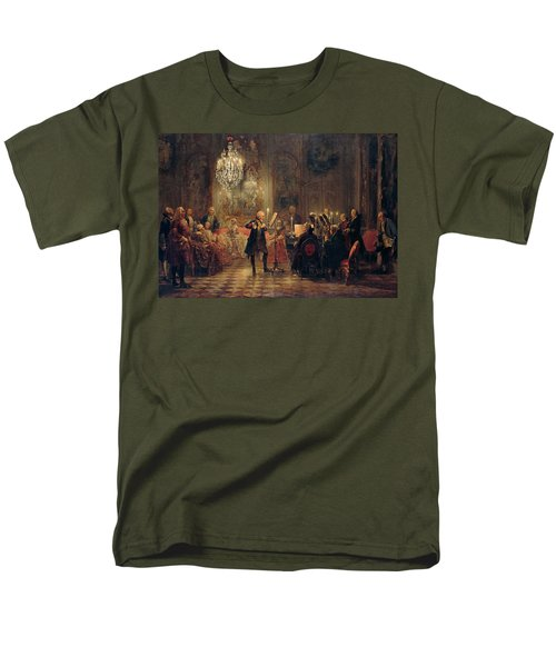 Flute Concert With Frederick The Great In Sanssouci Men's T-Shirt  (Regular Fit) by Adolph Menzel