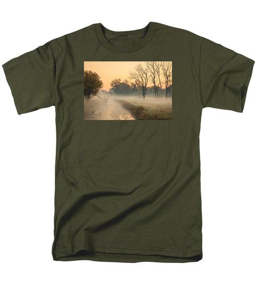 Foggy Fall Morning On Gary Avenue Men's T-Shirt  (Regular Fit) by Joni Eskridge