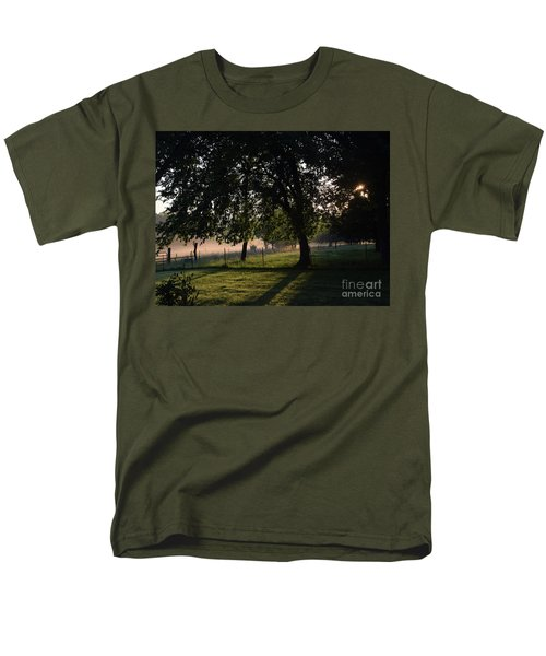 Men's T-Shirt  (Regular Fit) featuring the photograph Foggy Morning by Mark McReynolds