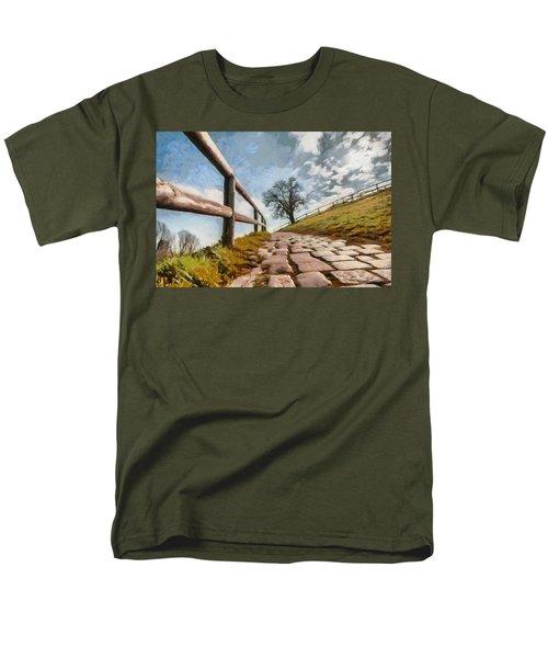 Footpath Men's T-Shirt  (Regular Fit) by Sergey Simanovsky