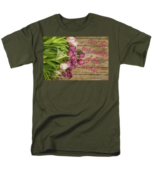 Men's T-Shirt  (Regular Fit) featuring the photograph For The Best Mother Of The World by Patricia Hofmeester