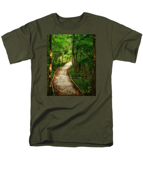 Men's T-Shirt  (Regular Fit) featuring the photograph Forest Path by Nikki McInnes