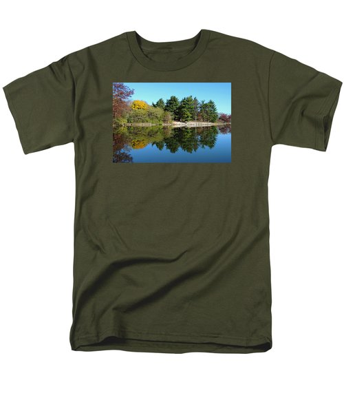 Men's T-Shirt  (Regular Fit) featuring the photograph Forest Reflections by Teresa Schomig