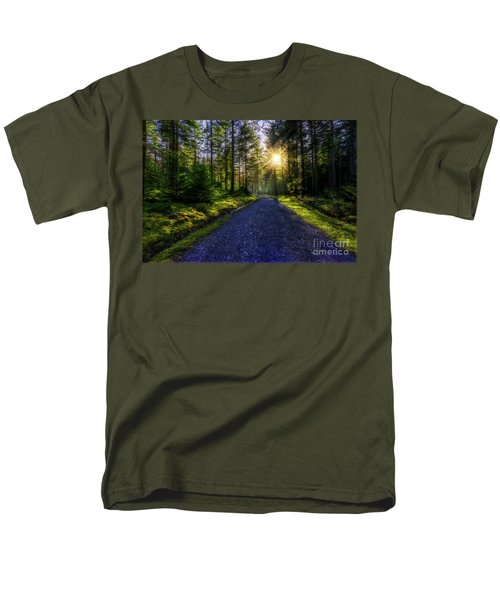 Forest Sunlight Men's T-Shirt  (Regular Fit) by Ian Mitchell