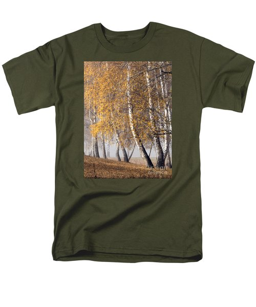 Forest With Birches In The Autumn Men's T-Shirt  (Regular Fit) by Odon Czintos