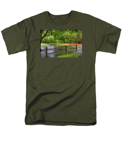 Fourth Street Flood Men's T-Shirt  (Regular Fit) by Sharon Batdorf
