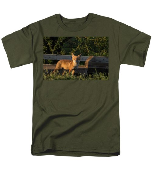 Men's T-Shirt  (Regular Fit) featuring the photograph Fox 2 by Jay Stockhaus