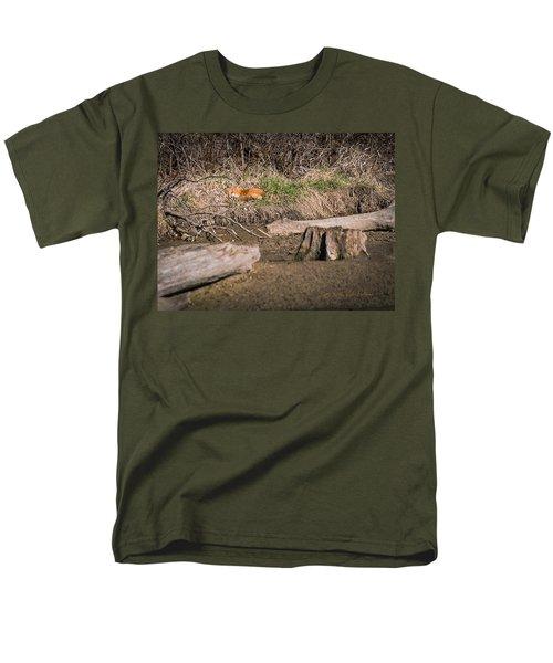 Men's T-Shirt  (Regular Fit) featuring the photograph Fox Asleep by Edward Peterson