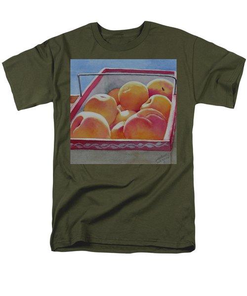 Fresh Peaches Men's T-Shirt  (Regular Fit) by Judy Mercer