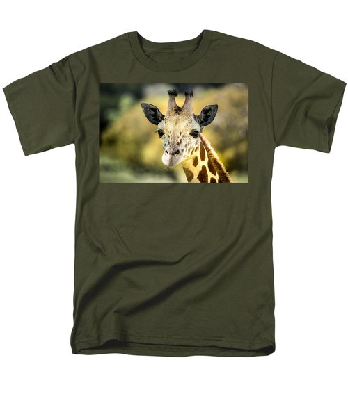 Friendly Giraffe Portrait Men's T-Shirt  (Regular Fit) by Janis Knight