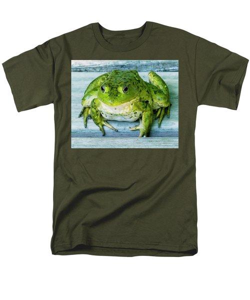 Frog Portrait Men's T-Shirt  (Regular Fit) by Edward Peterson