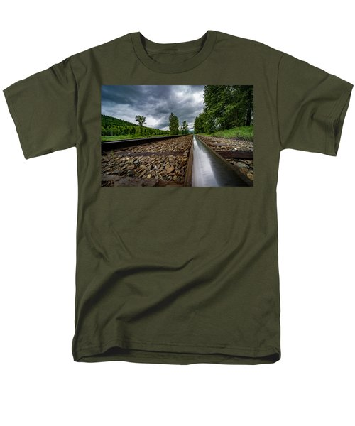 Men's T-Shirt  (Regular Fit) featuring the photograph From The Track by Darcy Michaelchuk