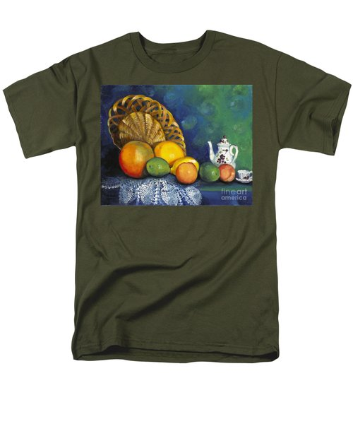 Men's T-Shirt  (Regular Fit) featuring the painting Fruit On Doily by Marlene Book