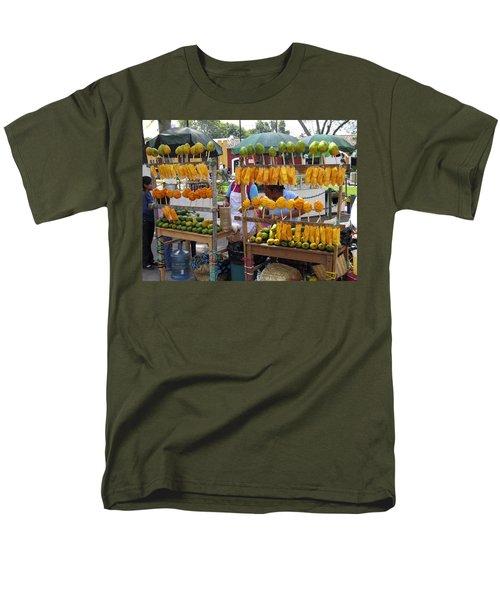 Fruit Stand Antigua  Guatemala Men's T-Shirt  (Regular Fit) by Kurt Van Wagner