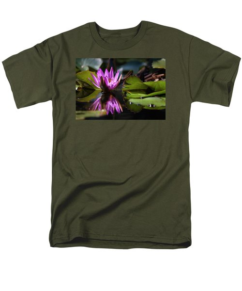 Men's T-Shirt  (Regular Fit) featuring the photograph Fuchsia Dreams by Suzanne Gaff