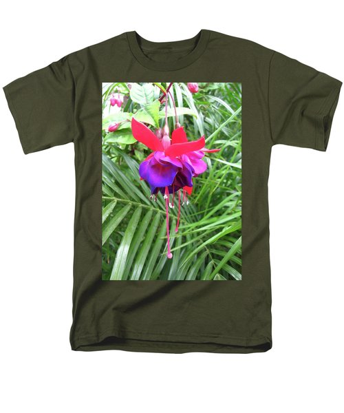 Men's T-Shirt  (Regular Fit) featuring the photograph Fuchsia by Mary Ellen Frazee