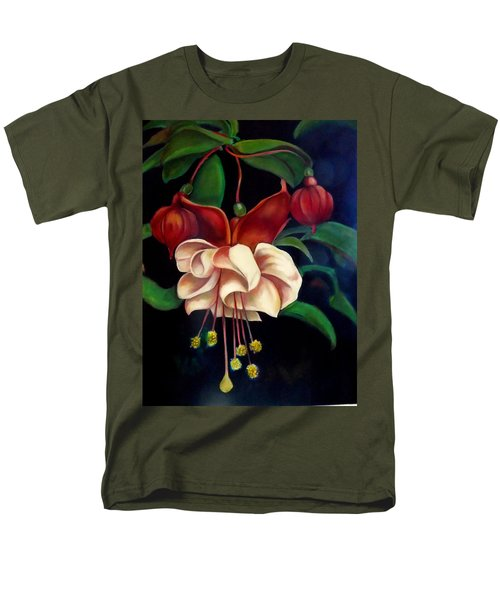 Men's T-Shirt  (Regular Fit) featuring the painting Fuchsias by Irena Mohr