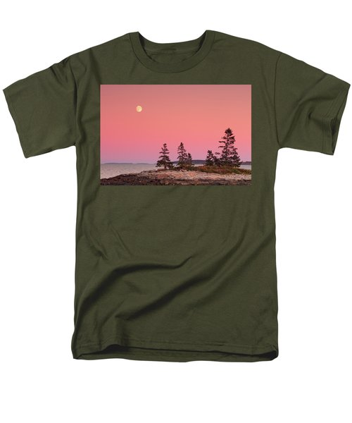 Men's T-Shirt  (Regular Fit) featuring the photograph Full Moon Over Maine  by Emmanuel Panagiotakis