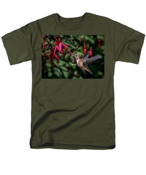 Fuschia Men's T-Shirt  (Regular Fit) by Randy Hall