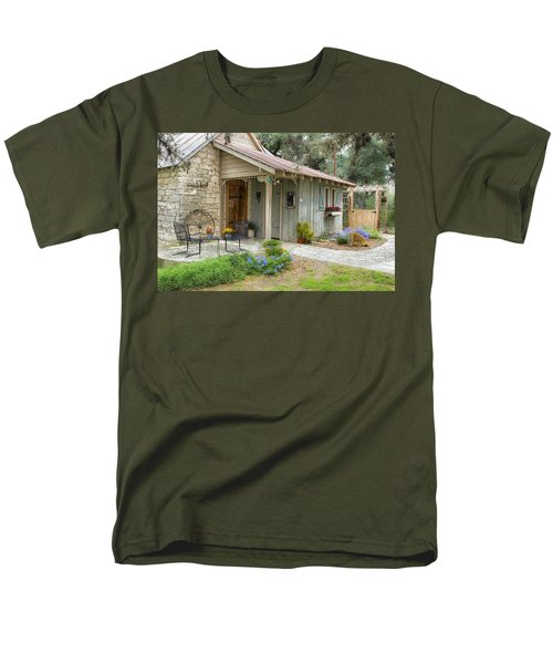 Garden Cottage Men's T-Shirt  (Regular Fit) by Kathy Adams Clark