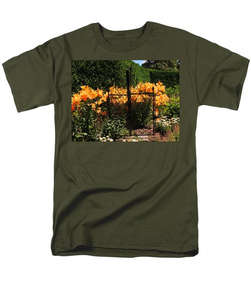 Men's T-Shirt  (Regular Fit) featuring the photograph Garden Gate by Teresa Schomig