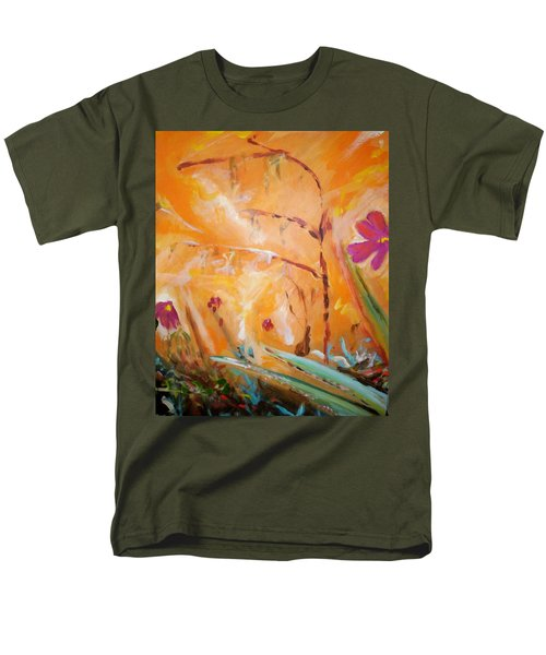 Men's T-Shirt  (Regular Fit) featuring the painting Garden Moment by Winsome Gunning