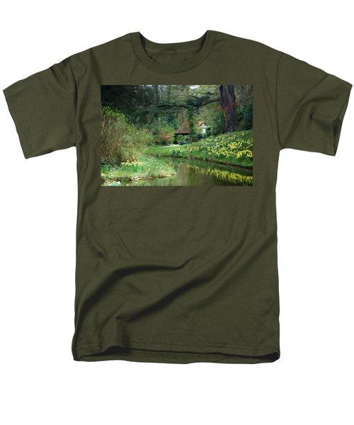 Garden Pond Men's T-Shirt  (Regular Fit) by Carol Crisafi