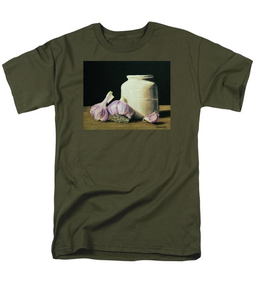 Men's T-Shirt  (Regular Fit) featuring the painting Garlic Crock by Marna Edwards Flavell