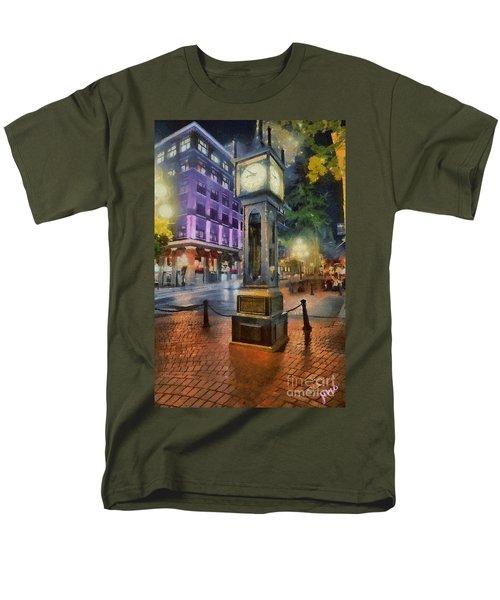 Men's T-Shirt  (Regular Fit) featuring the digital art Gastown Sreamclock 1 by Jim  Hatch