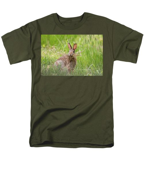 Gathering Rabbit Men's T-Shirt  (Regular Fit) by Terry DeLuco