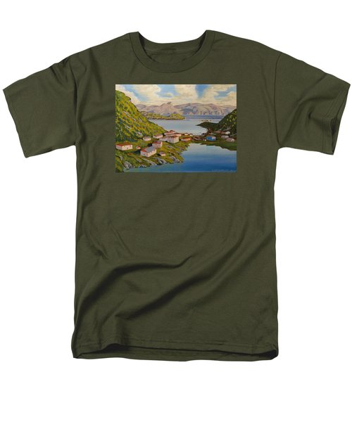Gaultois Village Newfoundland Men's T-Shirt  (Regular Fit) by David Gilmore