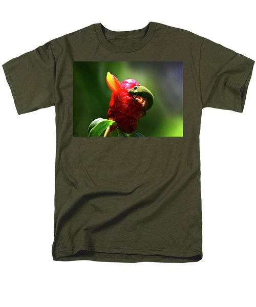 Men's T-Shirt  (Regular Fit) featuring the photograph Gecko #1 by Anthony Jones