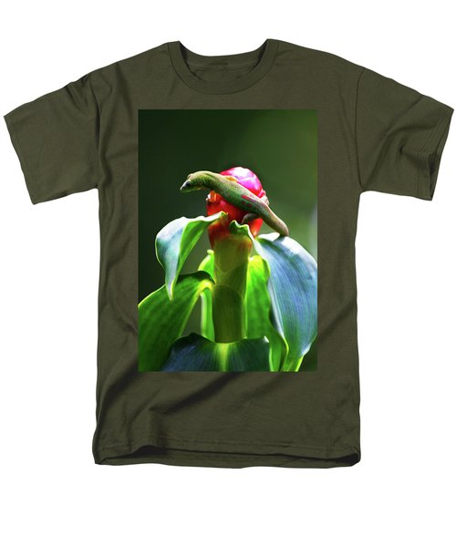 Men's T-Shirt  (Regular Fit) featuring the photograph Gecko #3 by Anthony Jones
