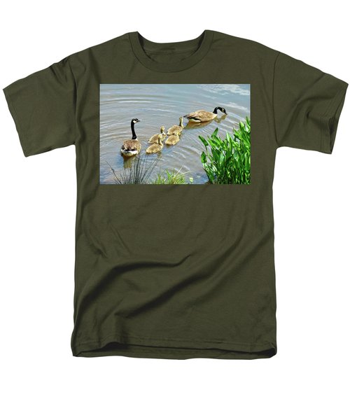 Geese And Goslings Men's T-Shirt  (Regular Fit) by Ludwig Keck