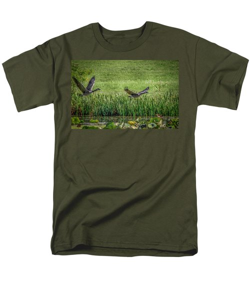 Geese In Flight Men's T-Shirt  (Regular Fit) by Ray Congrove