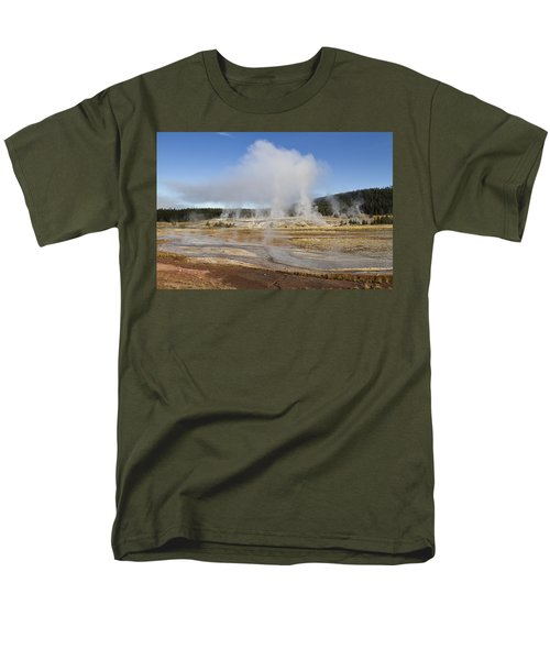 Gently Steaming Men's T-Shirt  (Regular Fit) by Shirley Mitchell