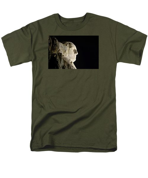 George Washington Profile At Night Men's T-Shirt  (Regular Fit) by David Lawson