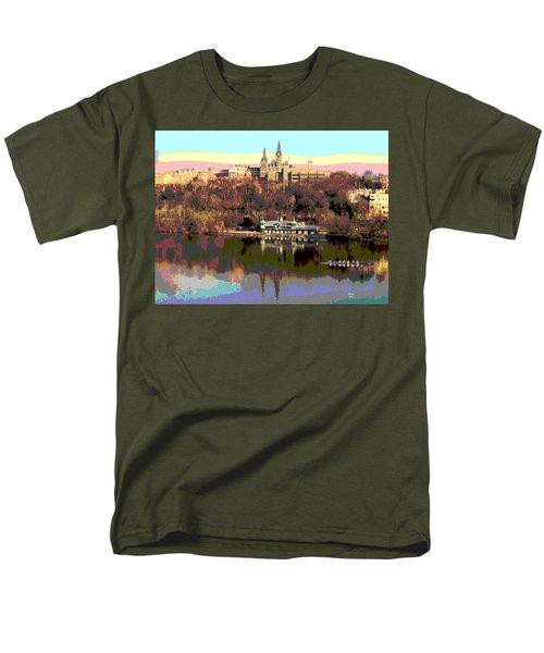 Georgetown University Crew Team Men's T-Shirt  (Regular Fit) by Charles Shoup