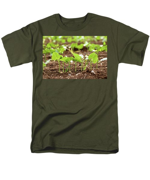 Men's T-Shirt  (Regular Fit) featuring the photograph New Sprouts In The Promised Land by Yoel Koskas