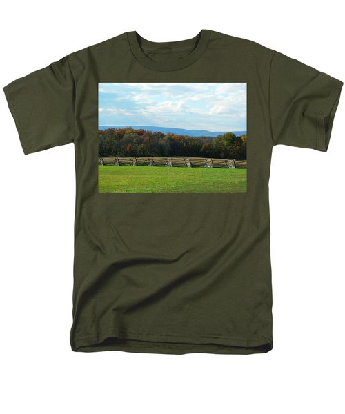 Men's T-Shirt  (Regular Fit) featuring the photograph Gettysburg Battlefield And Beyond by Emmy Marie Vickers