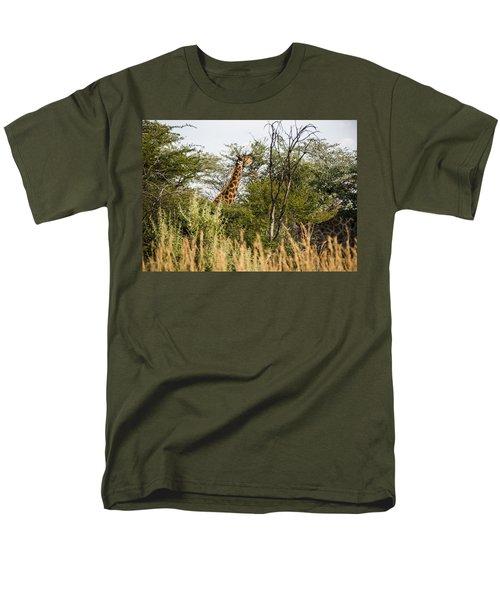 Giraffe Browsing Men's T-Shirt  (Regular Fit) by Patrick Kain